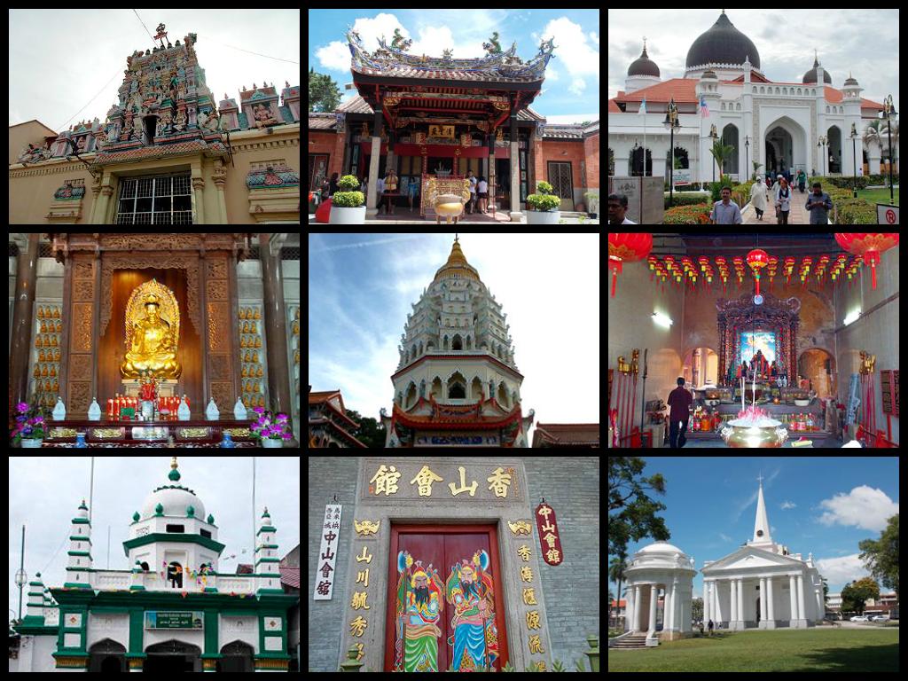 religious diversity temples penang harmony street malaysia