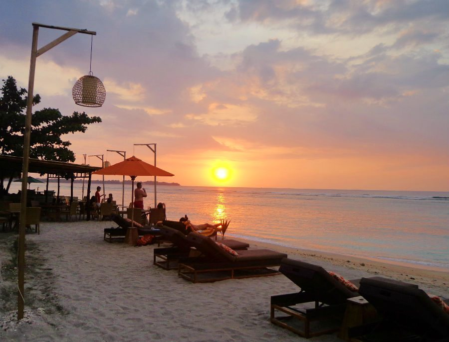 Sunset over Indonesia's Gili Islands