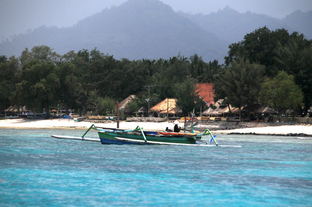 Image of the beach at Gili Meno